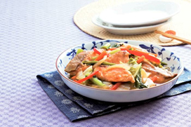 A Table kitchen 鮭の甘酢あんかけ